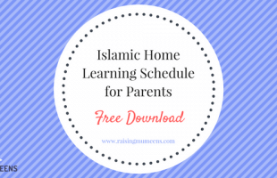 Islamic Home Learning Schedule for Parents: Free Download