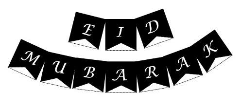 Plain Black Eid Bunting