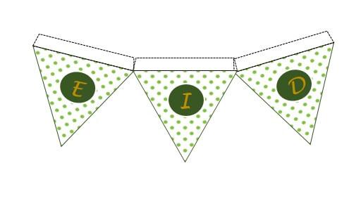 Green Polka Dot Eid Bunting